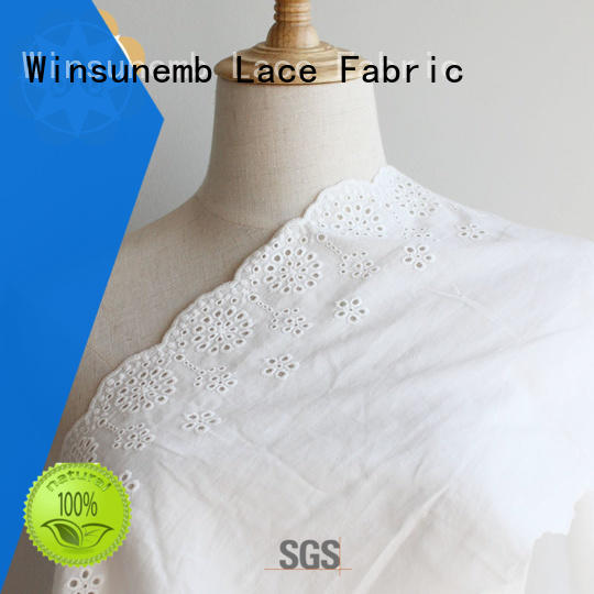 embellished lace fabric outfit for apparel Winsunemb