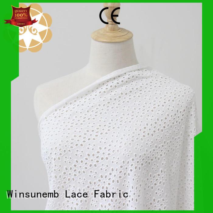 wear Custom flowers Embroidery Lace Fabric red Winsunemb