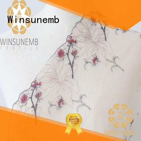 Winsunemb high-end lace trim producer for fashion garment