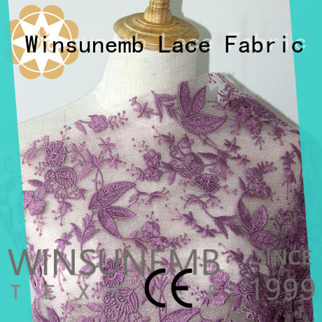 Winsunemb cotton lace fabric online producer for underwear