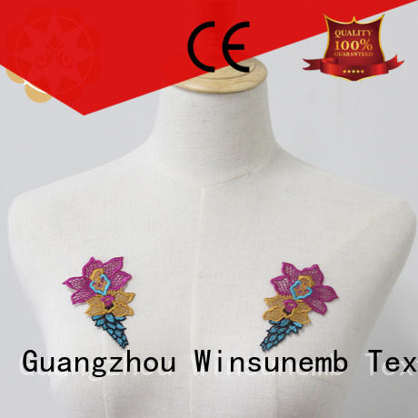 garments embroidery lace motif motifs for chest corsage Winsunemb