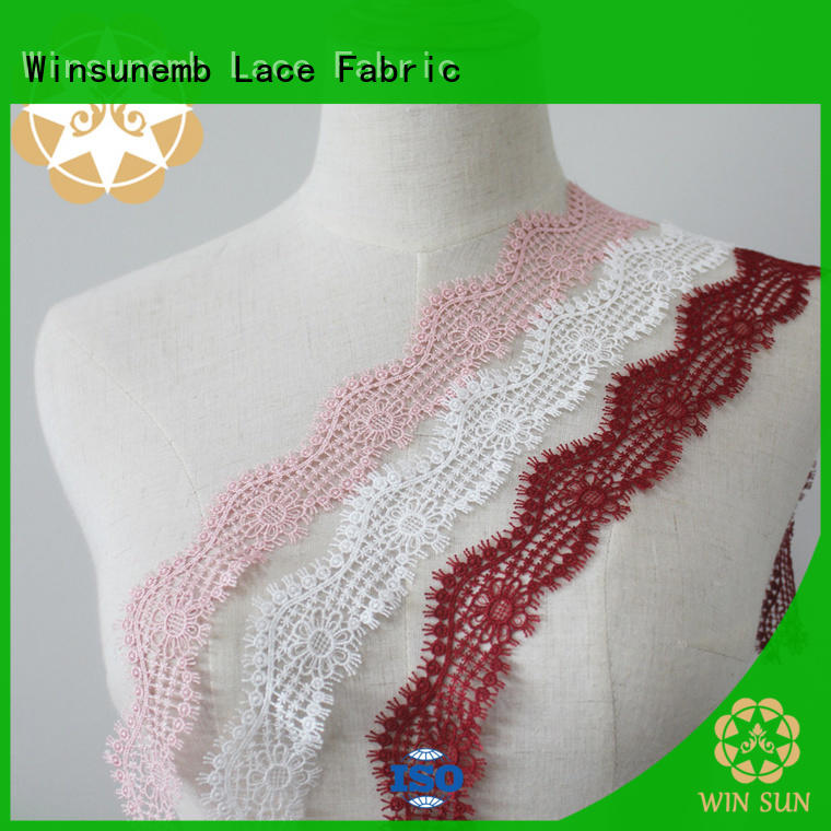 Embroidery Lace Trimming pattern for DIY Winsunemb