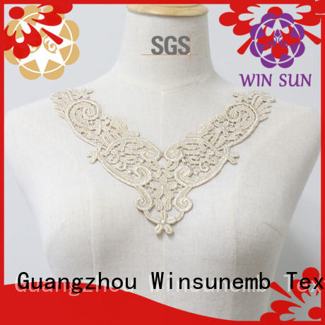 Winsunemb elegant lace neckline for manufacturer for decorate