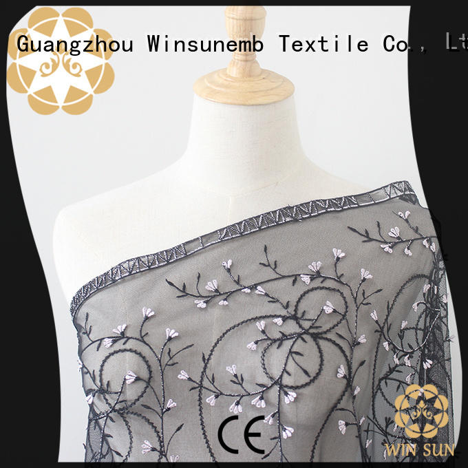 Winsunemb professional bridal lace fabric order now for underwear