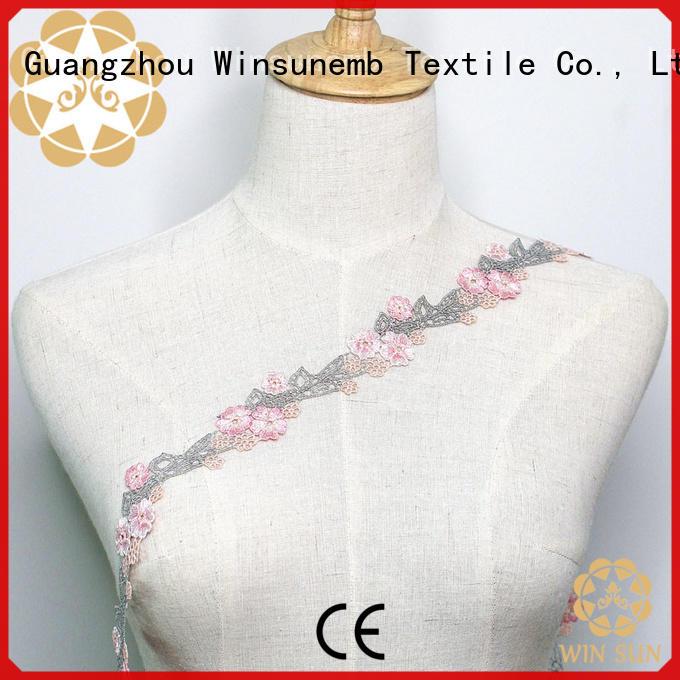 Winsunemb delicate stretch lace fabric for fashion garment