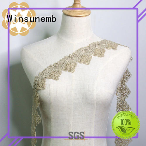 newest lingerie chemical Embroidery Lace Trimming eyelet Winsunemb
