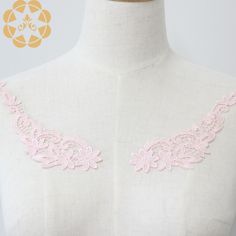 Winsunemb accessories embroidery lace motif in china for chest corsage-3