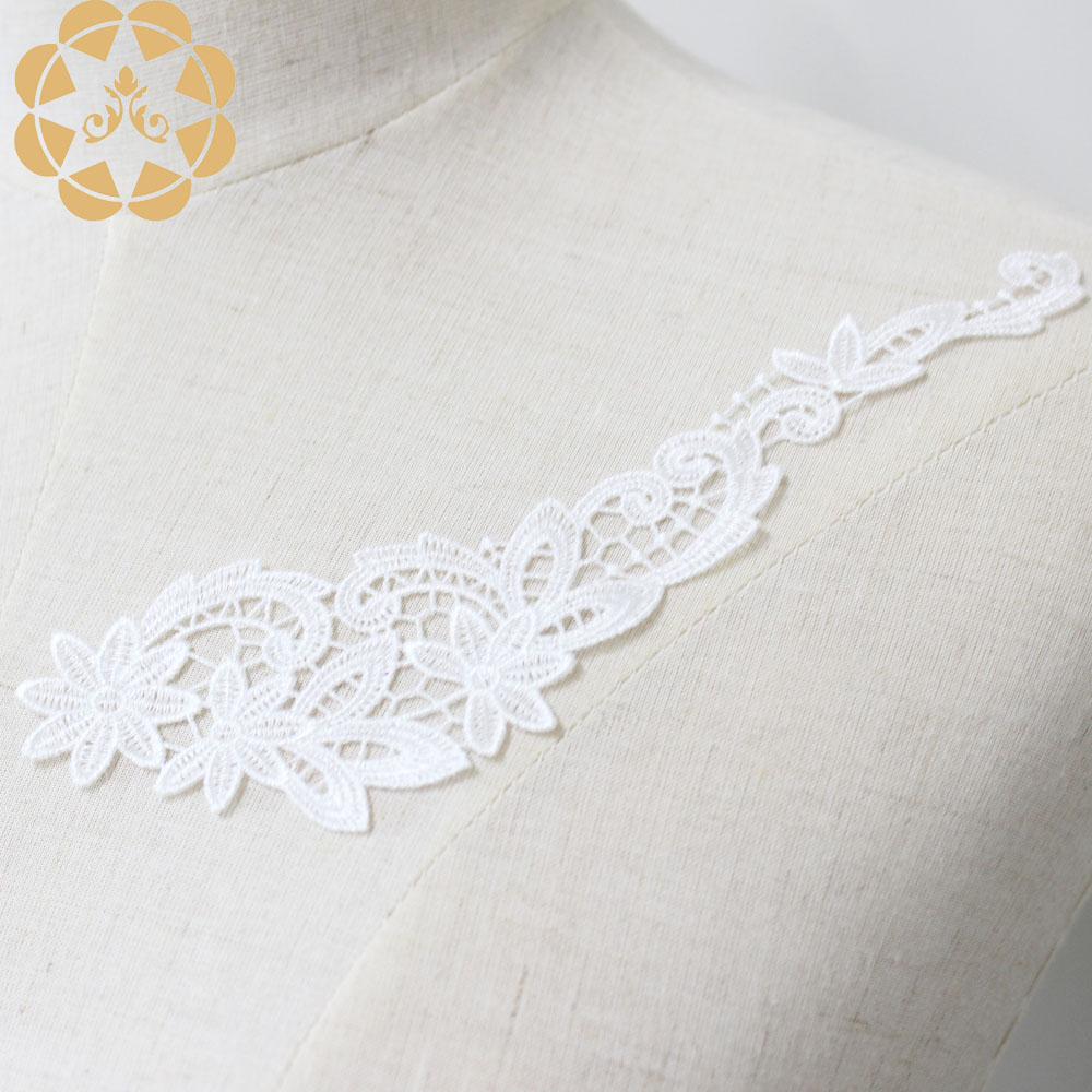 fashion design embroidery lace motif costume wholesale for chest corsage-5