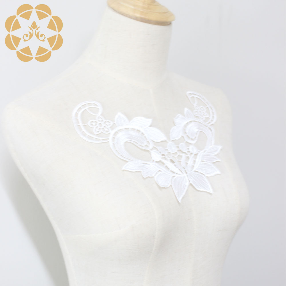 Winsunemb -Best Embroidery White Lace Applique For Dress Patch Sewing