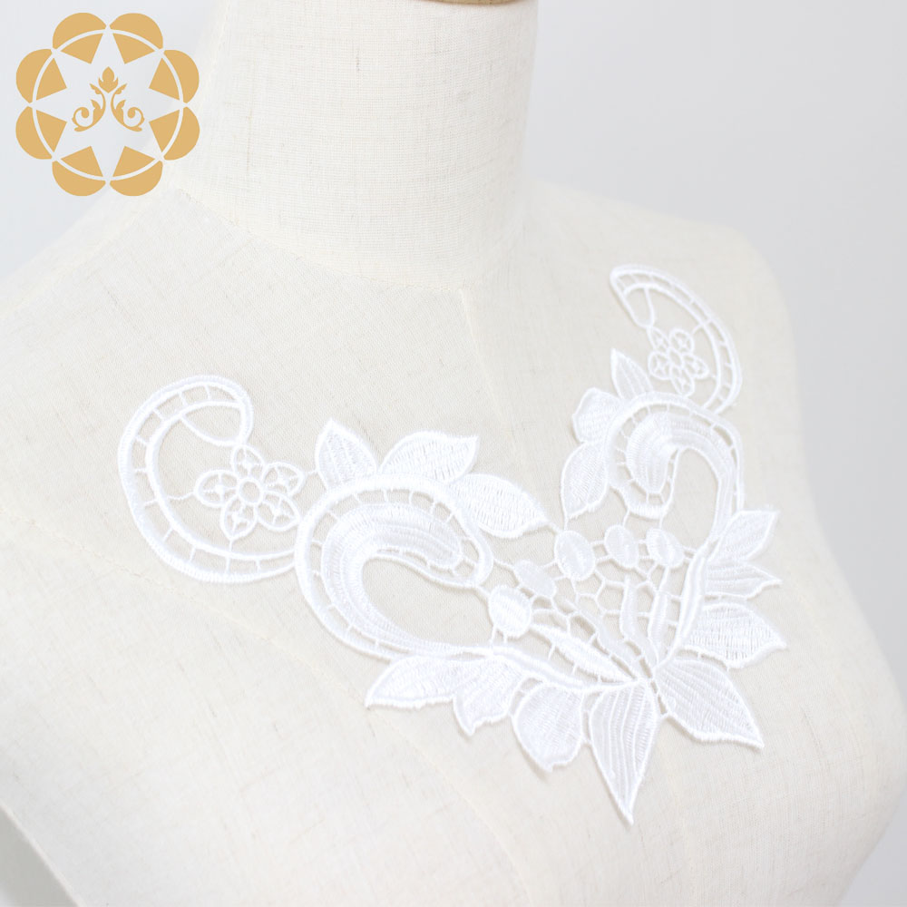 Embroidery Lace Flower Applique For Dress Patch Sewing Craft Decoration-4