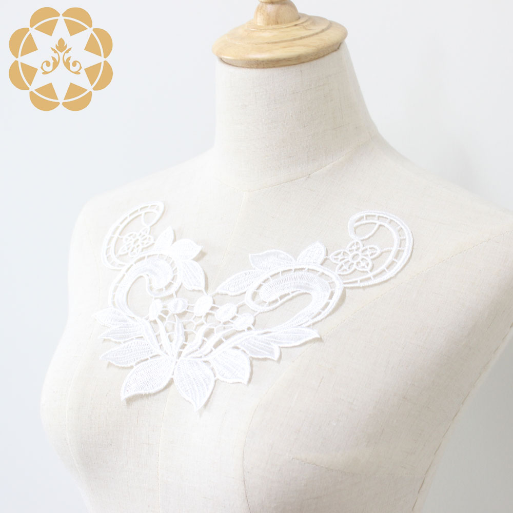 Embroidery Lace Flower Applique For Dress Patch Sewing Craft Decoration-5