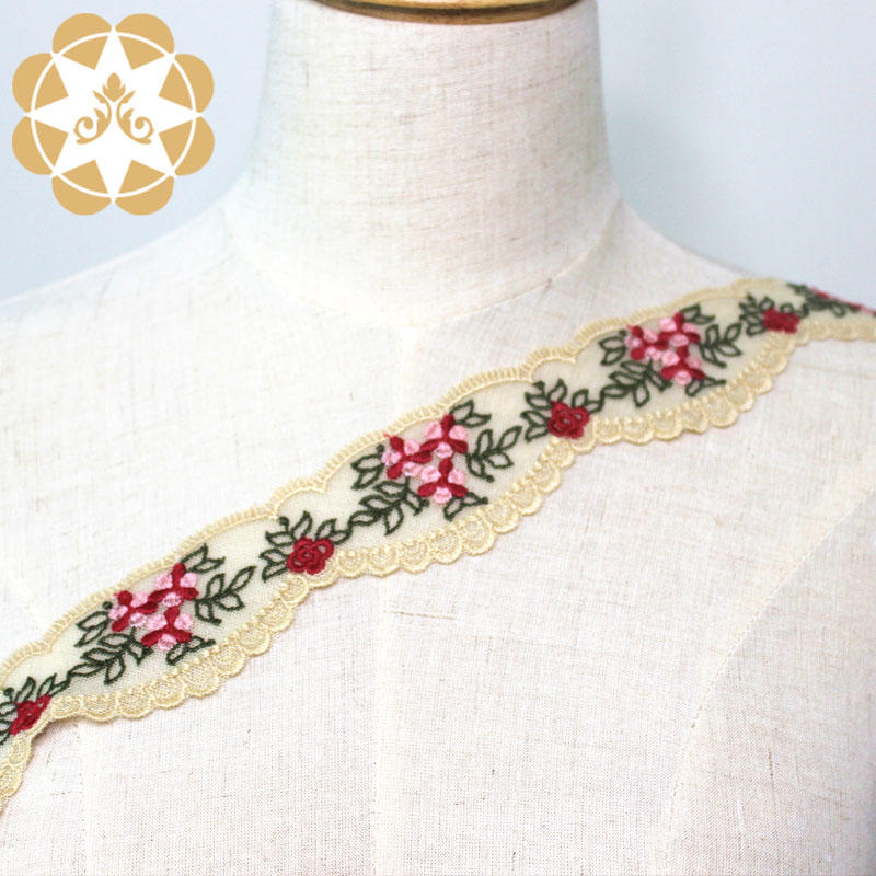 Embroidery Cotton Lace Trim Eyelet Flower Lace Trim