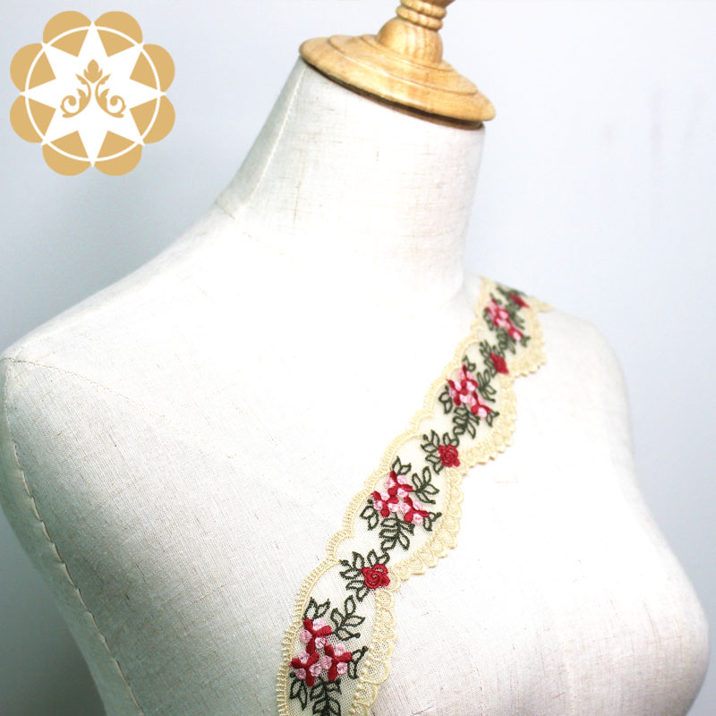 exquisite lace trim metallic for fashion garment-1