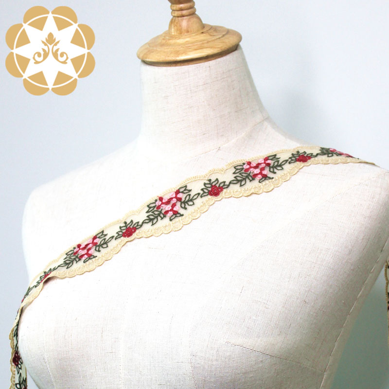 exquisite lace trim metallic for fashion garment-5