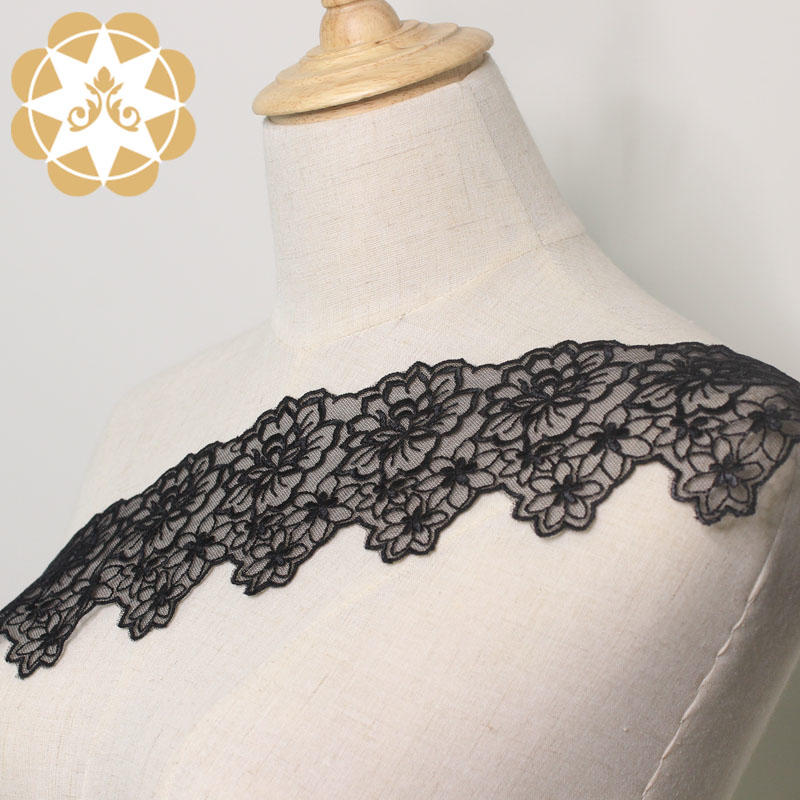 9cm Embroidery Chemical Lace Trim for Lingerie