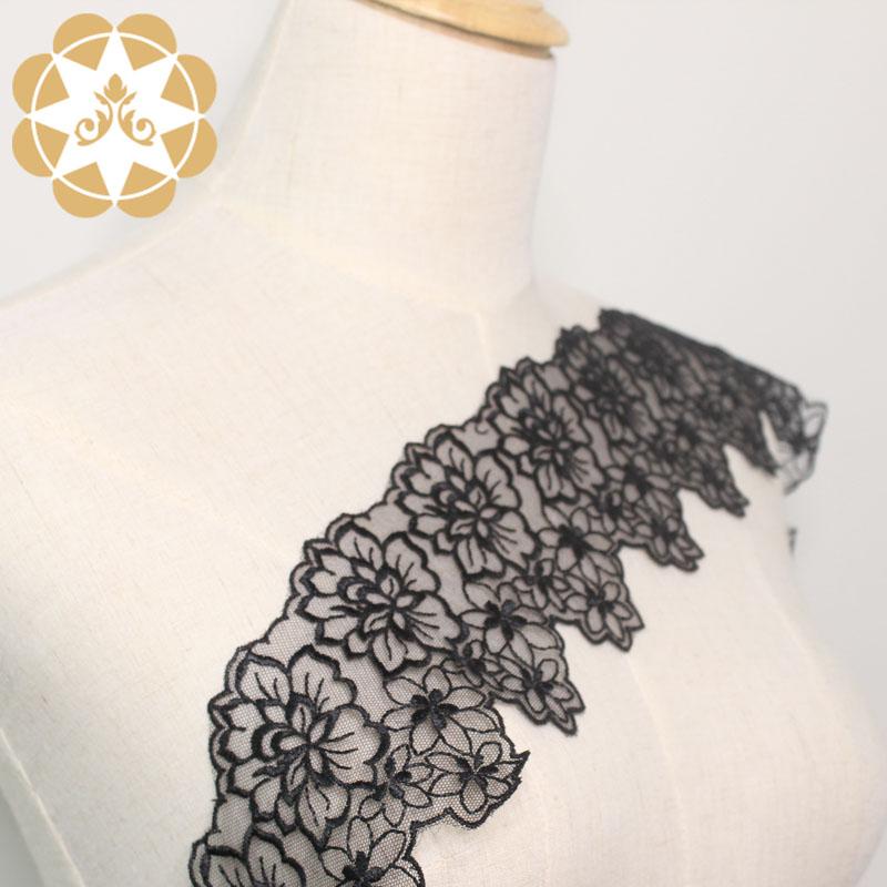 Winsunemb -Stretch Lace Trim Manufacture | 9cm Embroidery Chemical Lace Trim For Lingerie