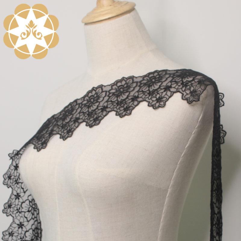 Winsunemb -Stretch Lace Trim Manufacture | 9cm Embroidery Chemical Lace Trim For Lingerie-1