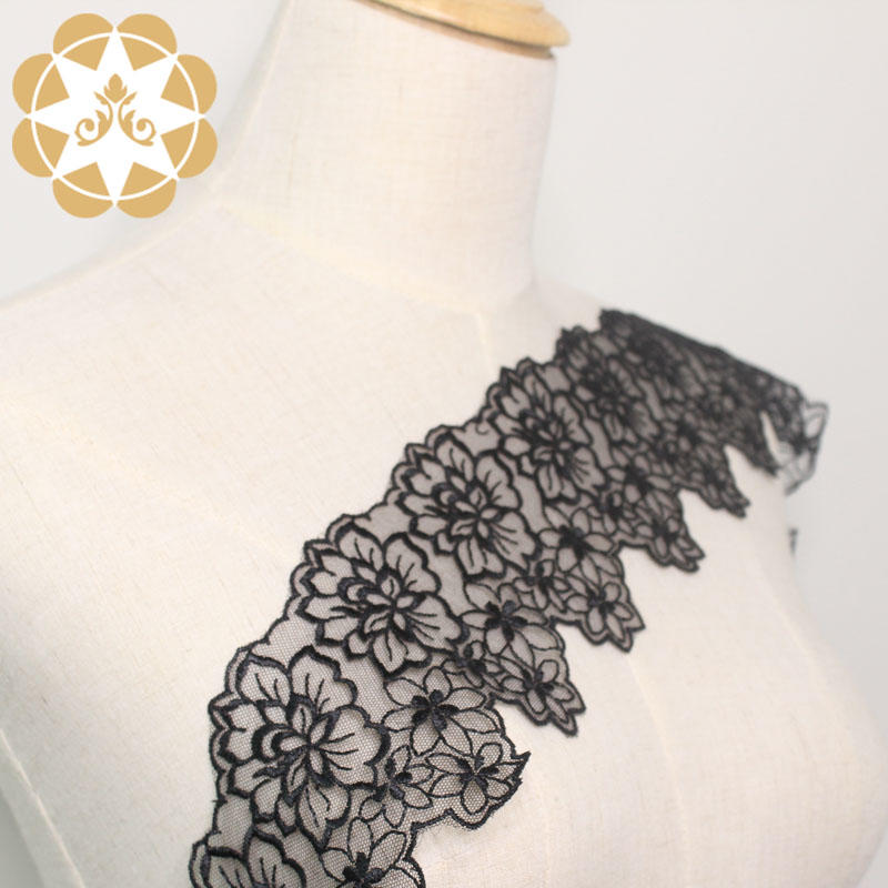 fine qualtiy Embroidery Lace Trimming graceful order now for lingerie
