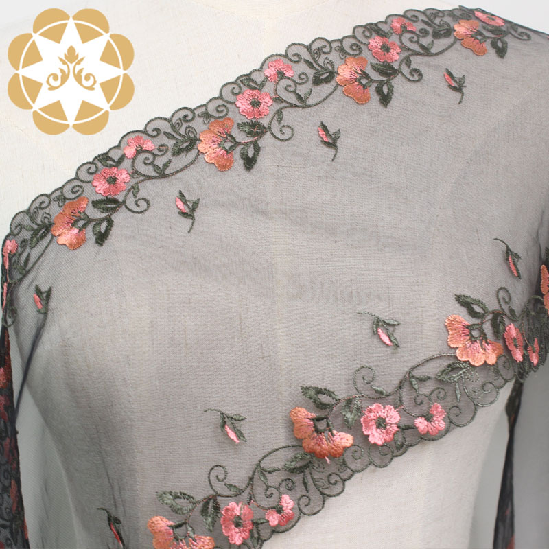 Winsunemb soft beaded lace fabric producer for underwear-3