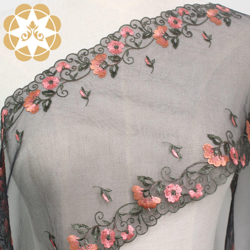 Winsunemb Brand floral graceful lingeries colorful Embroidery Lace Fabric
