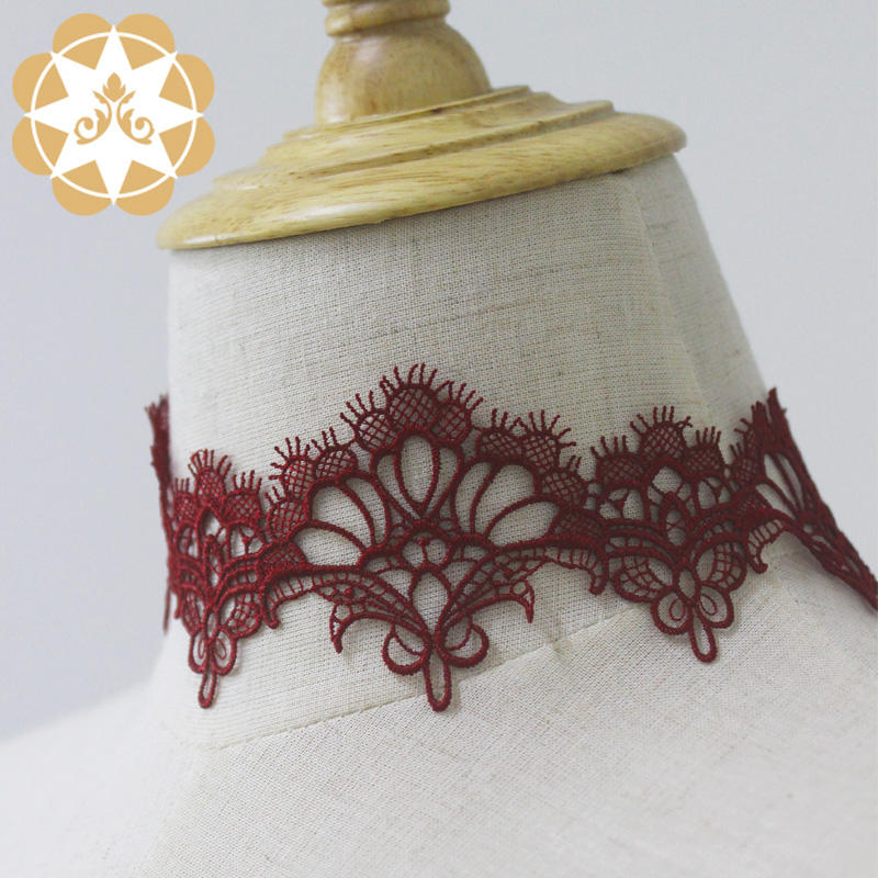 China suppliers chemical embroidery lace trim for sxey lingerie and women dress