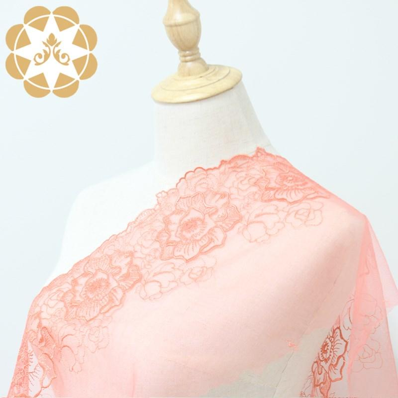 Winsunemb cotton lace material producer for apparel