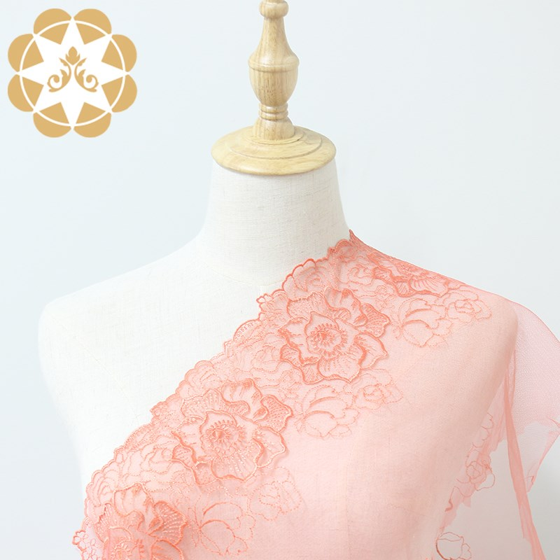 Winsunemb cotton lace material producer for apparel-4