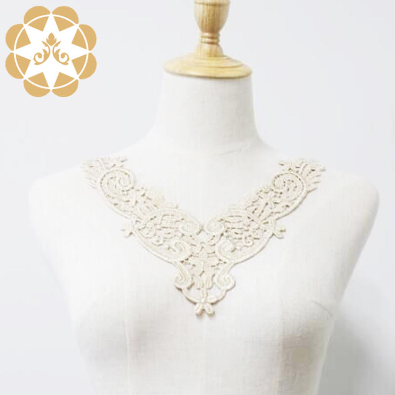 WS894779Golden Venice Lace Applique Collar