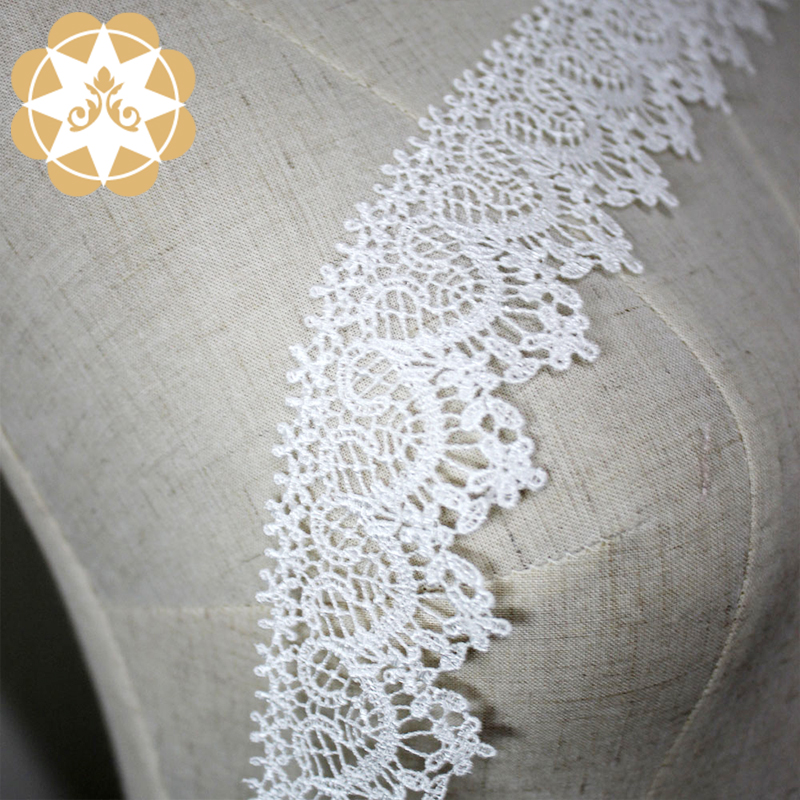Winsunemb -Lace Trim By The Yard Manufacture | Chemical Embroidery Lace Trim White-1