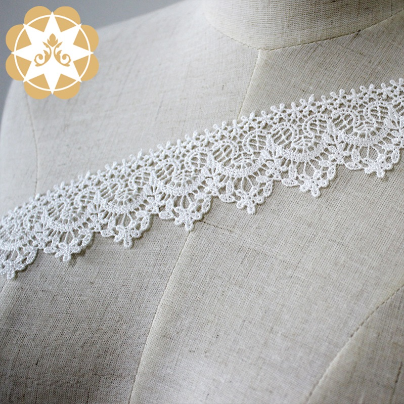 Winsunemb -Lace Trim By The Yard Manufacture | Chemical Embroidery Lace Trim White