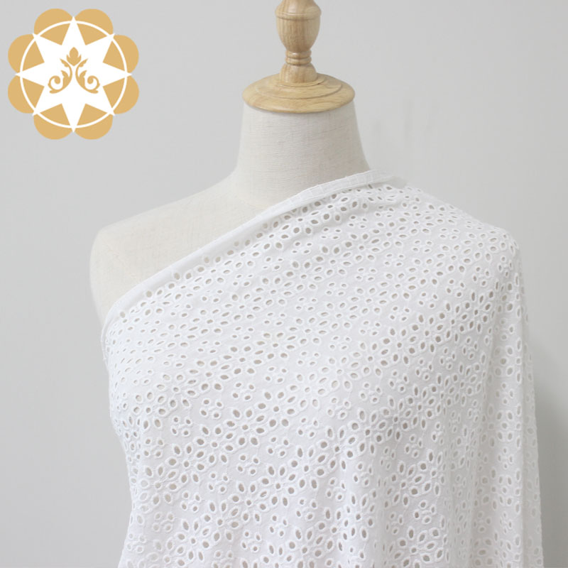 Cotton  Facric Eyelet Lace High Quality Embriodery For Personalized Curtains and Cool Breezy Shirt-Winsunemb