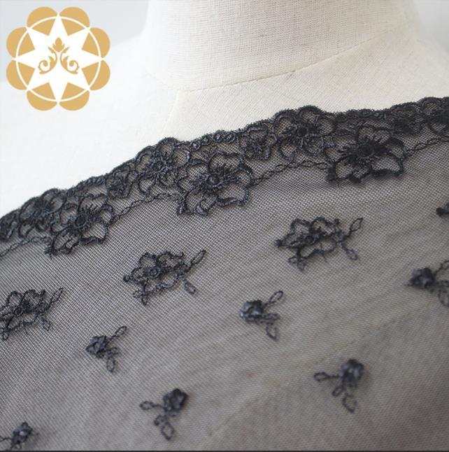 French Thin Stiches lingerie Design embroidery lace fabric 2019 mesh lace