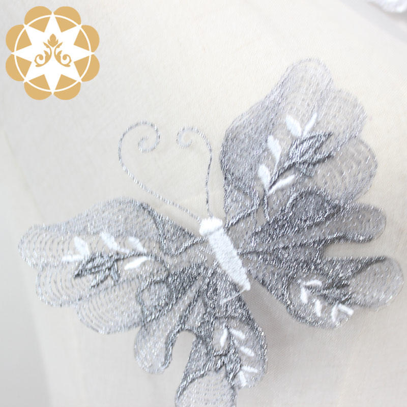 Beauty Embroidery Butterfly Lace African Fabric for Veil and Dress Skirt or Garment