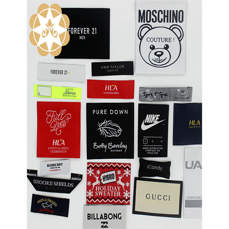 Wholesale Custom  Brand Name Logo Clothes Labels for Clothing