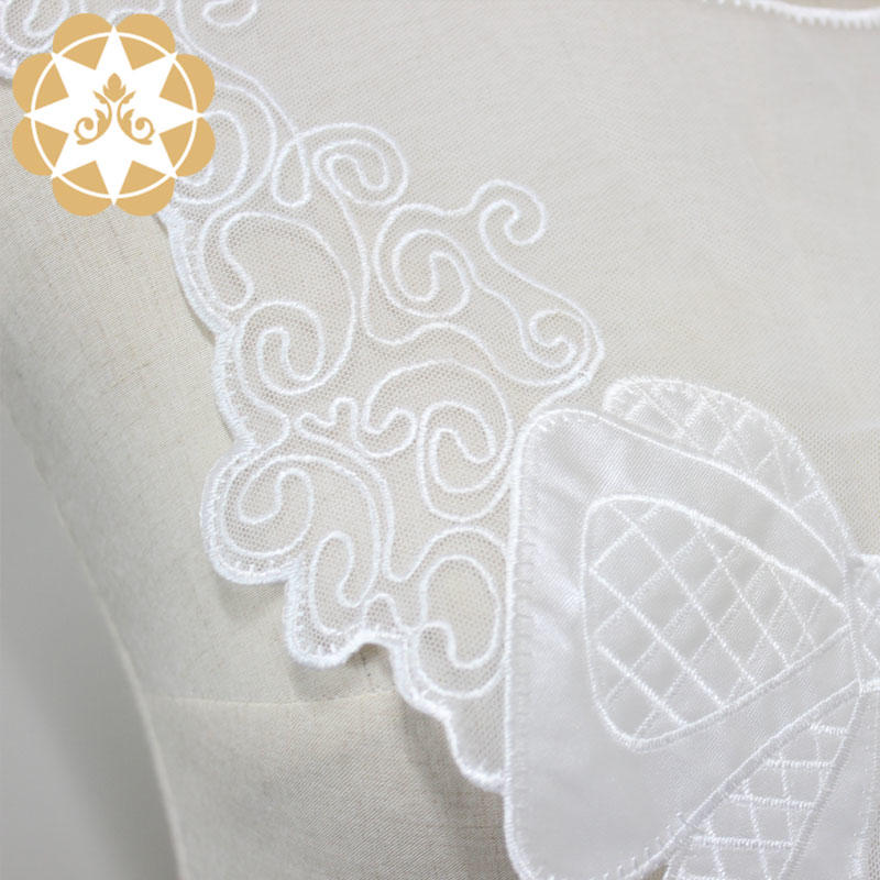Wholesale Necklacel Collar With Big Bowknot Flower Embroidery Motifs For Dress