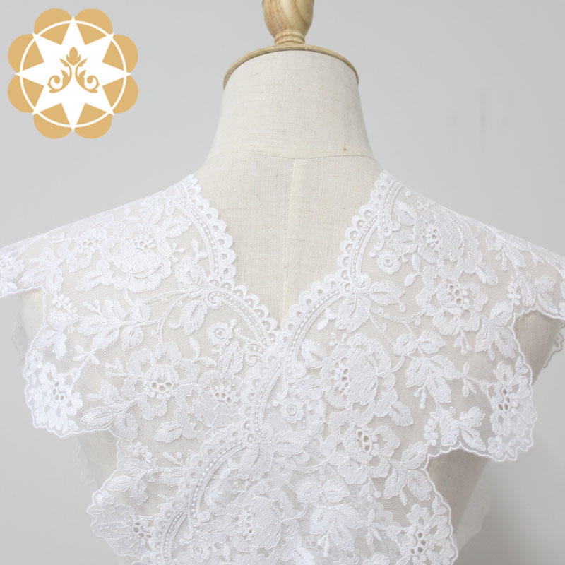 2019 newest exquisiteness cording embroidery lace with eyelet for woman dress or wedding dress