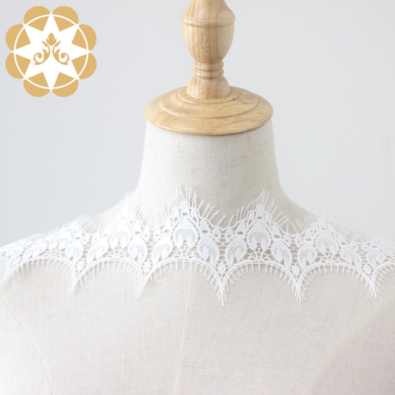 Girl crown embroidery lace fabric, Venice lace eyelash lace for underwear, bras or high-end girl barbie clothing