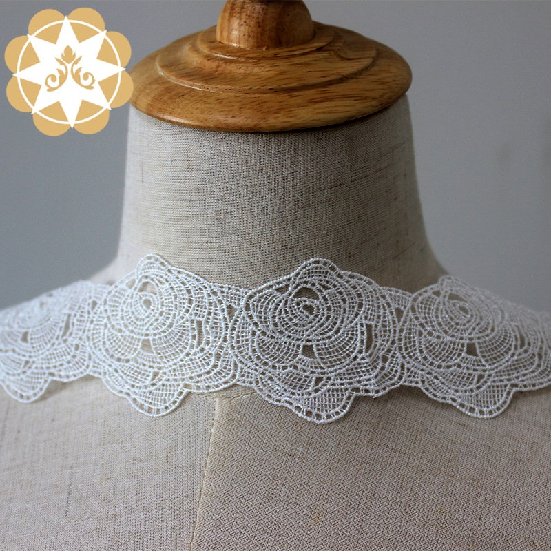 Winsunemb -High-quality Stretch Lace Trim | Winsunemb Round Rose Embroidery Lace Trimming-2
