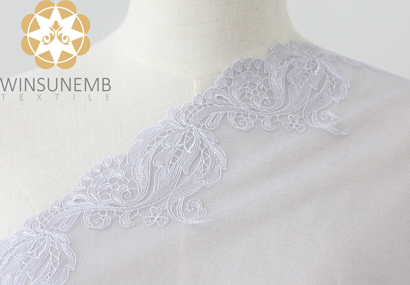 Winsunemb -lace by the yard | Embroidery Lace Trimming | Winsunemb-1