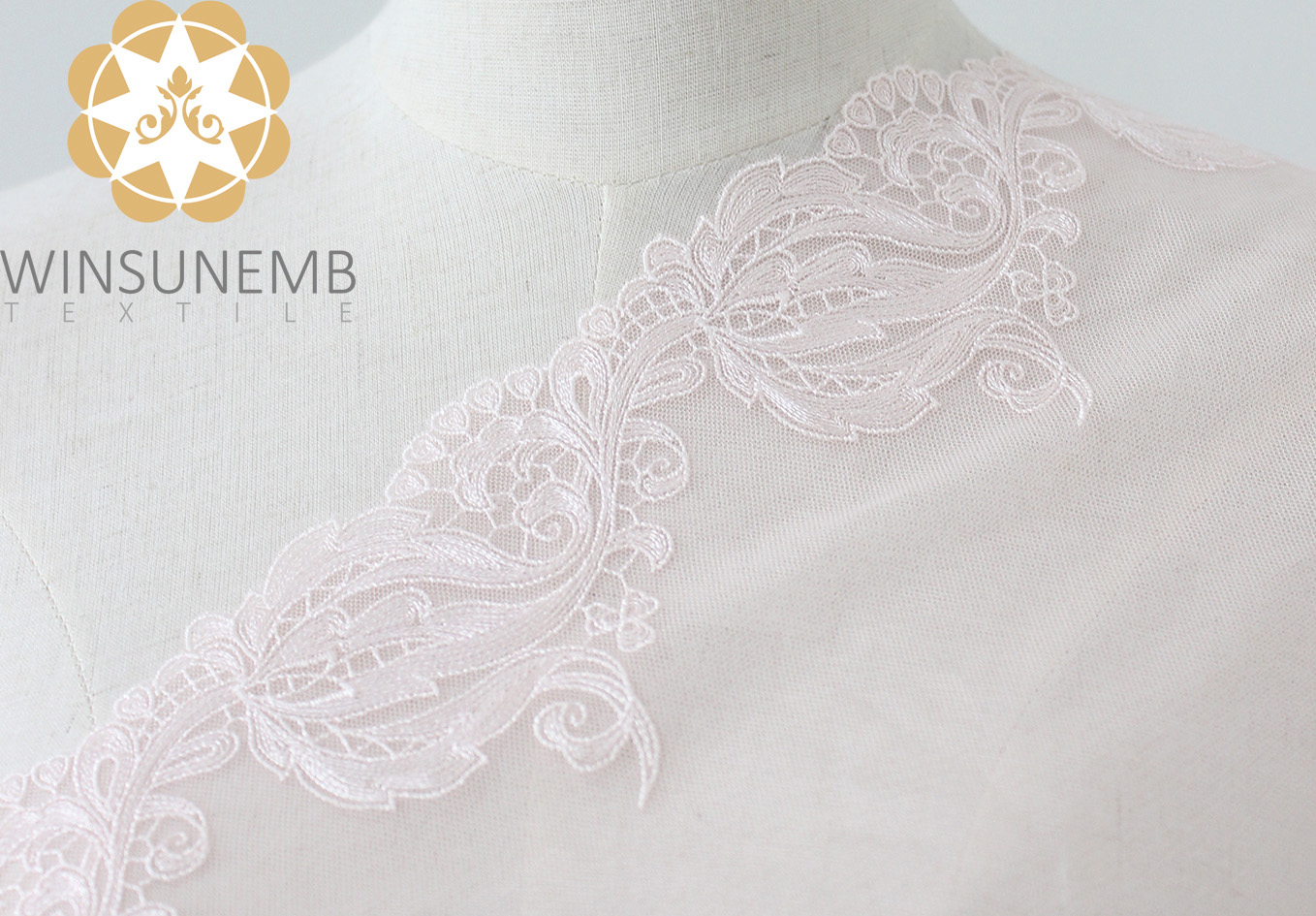 Winsunemb -lace by the yard | Embroidery Lace Trimming | Winsunemb