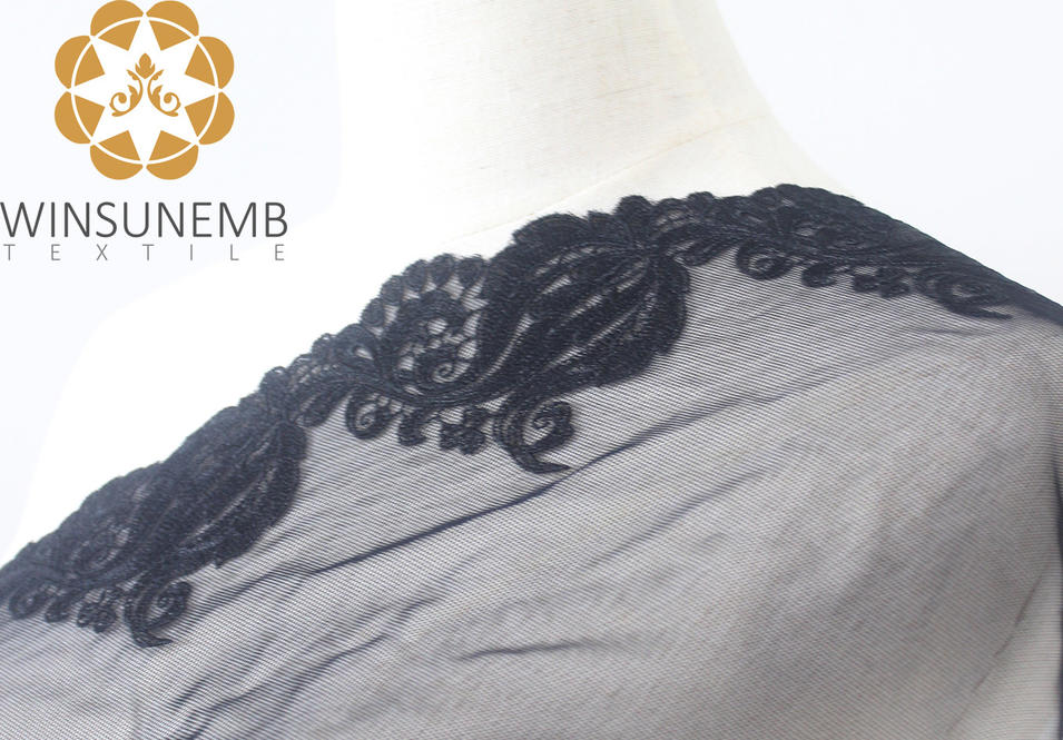 Surrounded by love mermaid single-wave embroidery lace Trimming 21 cm, 100% polyester, underwear, wedding dresses, gifts, decorative lace.
