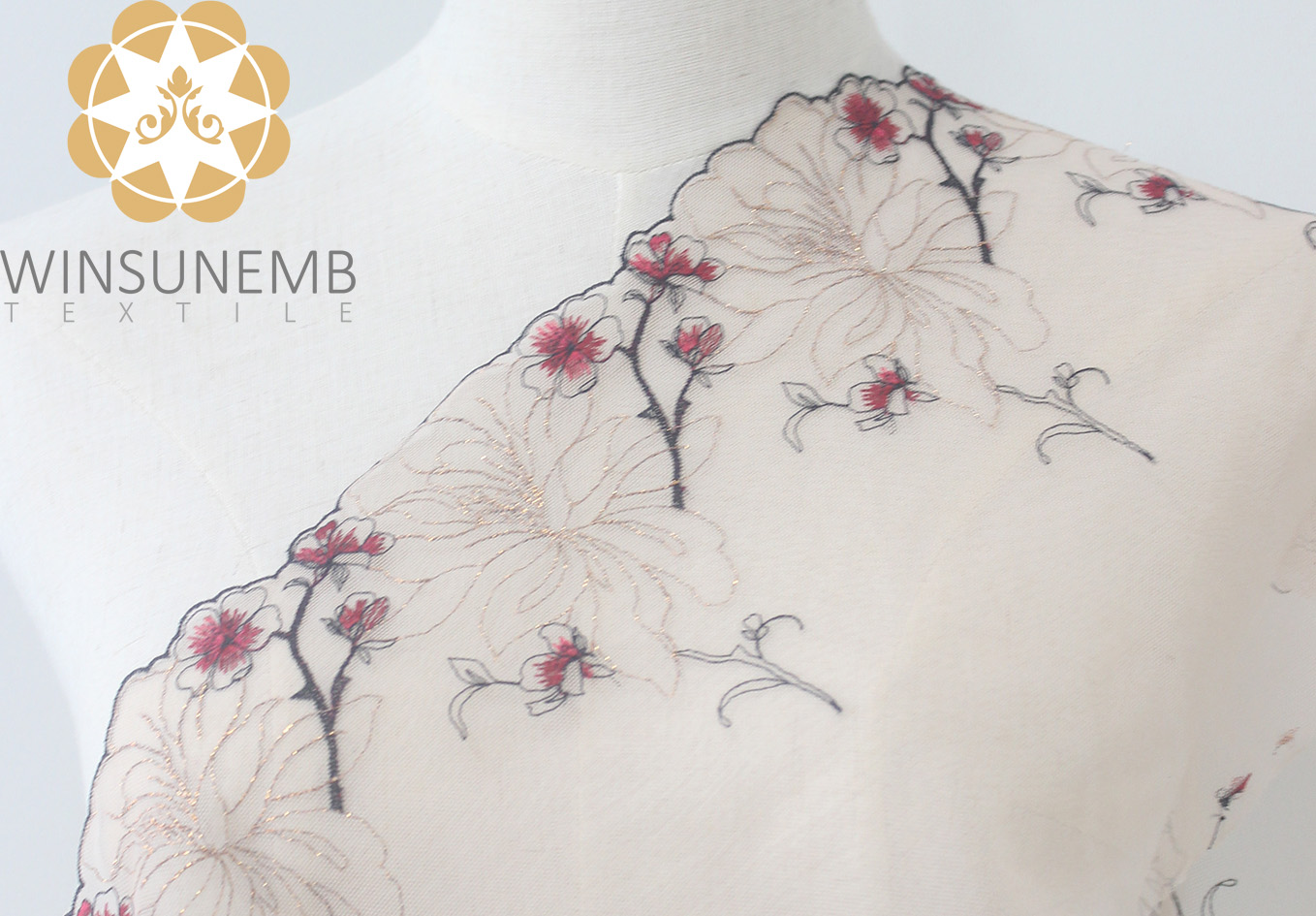 enchanting plum embroidery Lingerie lace trimming(South Korea iljimae),.soft and comfortableEnvironment protection.Cultured sexy.-Winsunemb