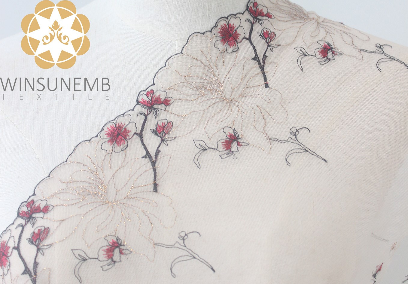 enchanting plum embroidery Lingerie lace trimming(South Korea iljimae),.soft and comfortable Environment  protection.Cultured sexy.-4