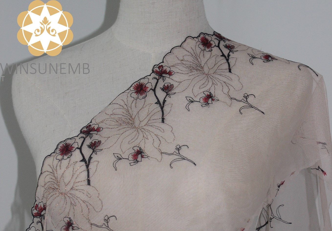 Winsunemb -Manufacturer Of Lace Trim By The Yard Enchanting Plum Embroidery Lingerie-4