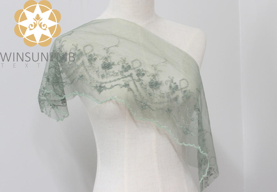Winsunem  attracts fans style embroidery lace Trimming .Underwear, wedding dress, skirt, children's wear, curtains, sofa decoration.T