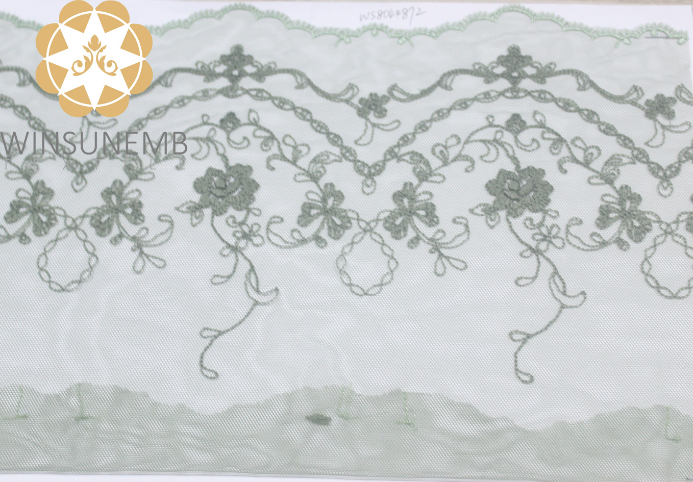 video-Winsunemb cording lace trim by the yard for manufacturer for fashion garment-Winsunemb-img-1