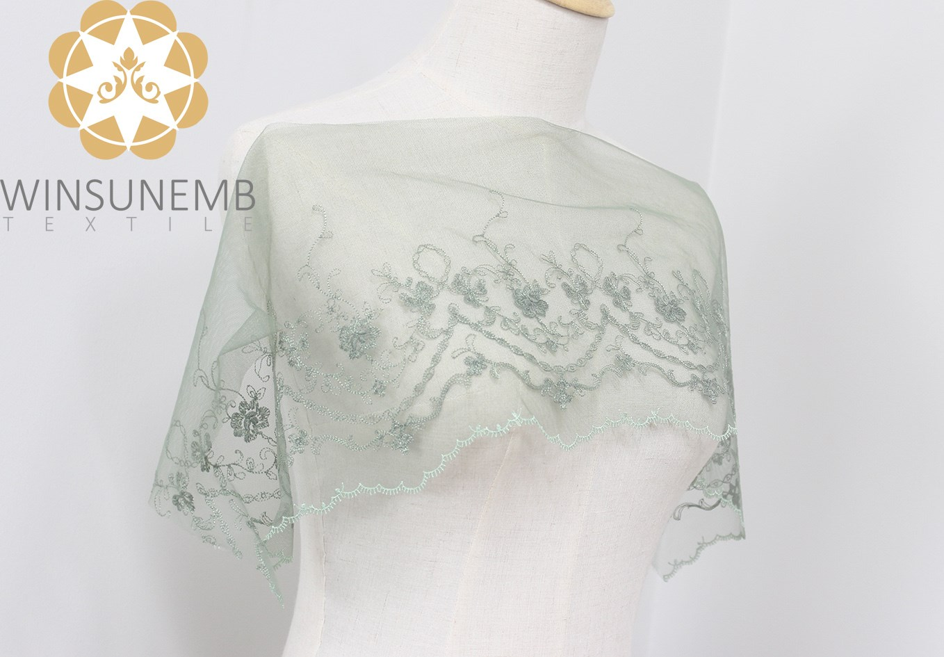 Winsunemb -Stretch Lace Trim | Winsunem  attracts Fans style Embroidery Lace Trimming -1