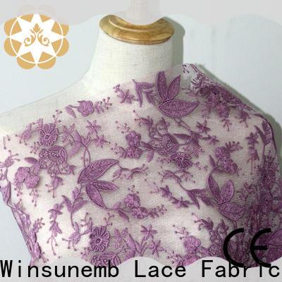 Winsunemb women lace material bulk production for apparel