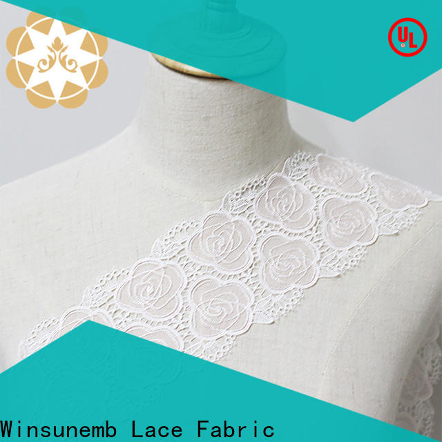 Winsunemb eco-Friendly lace fabric for bedclothes