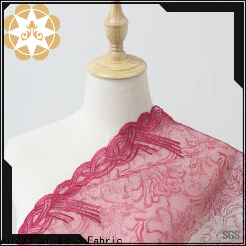 Winsunemb bright lace fabric by the yard bulk production for apparel
